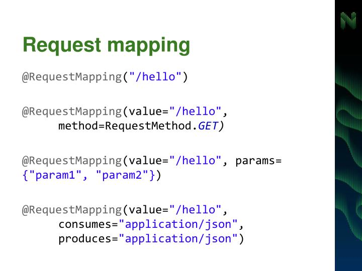 Request mapping