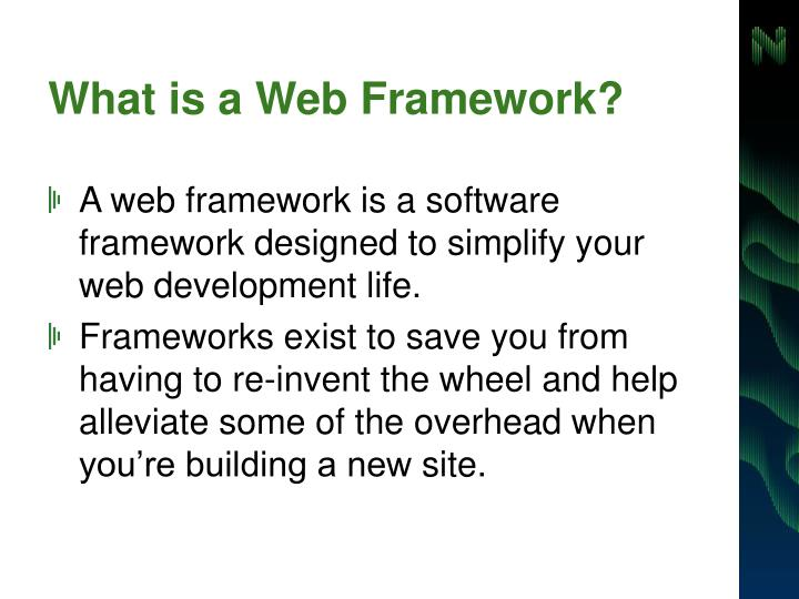 What is a web framework