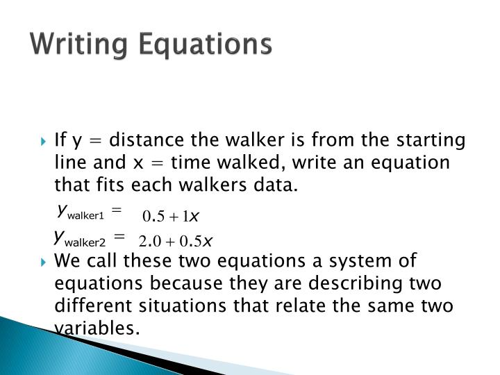 writing and solving equations Fun math practice improve your skills with free problems in 'write variable equations to represent word problems' and thousands of other practice lessons.