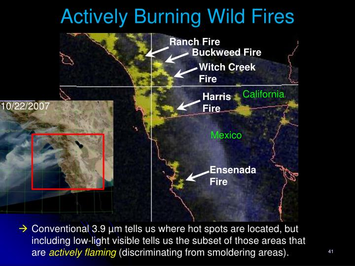 Actively Burning Wild Fires