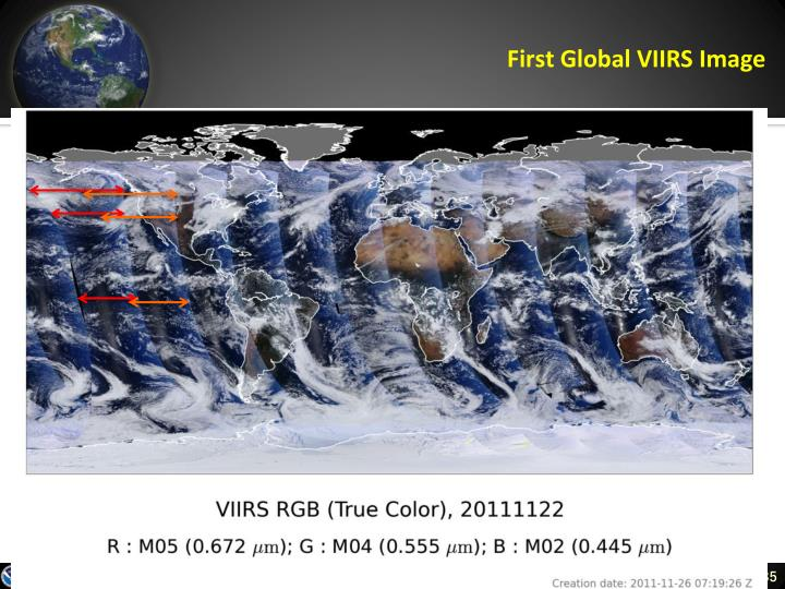 First Global VIIRS Image