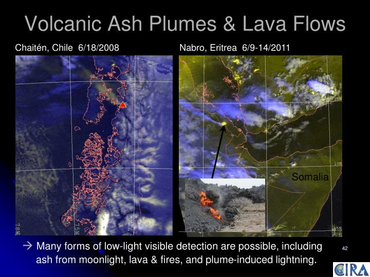Volcanic Ash Plumes & Lava Flows