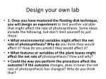 design your own lab