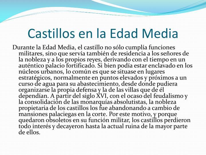 Castillos en la Edad Media