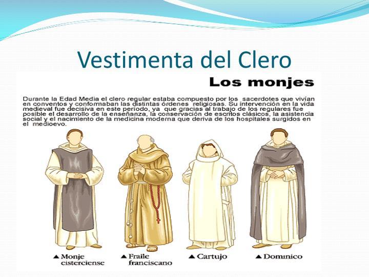 Vestimenta del Clero