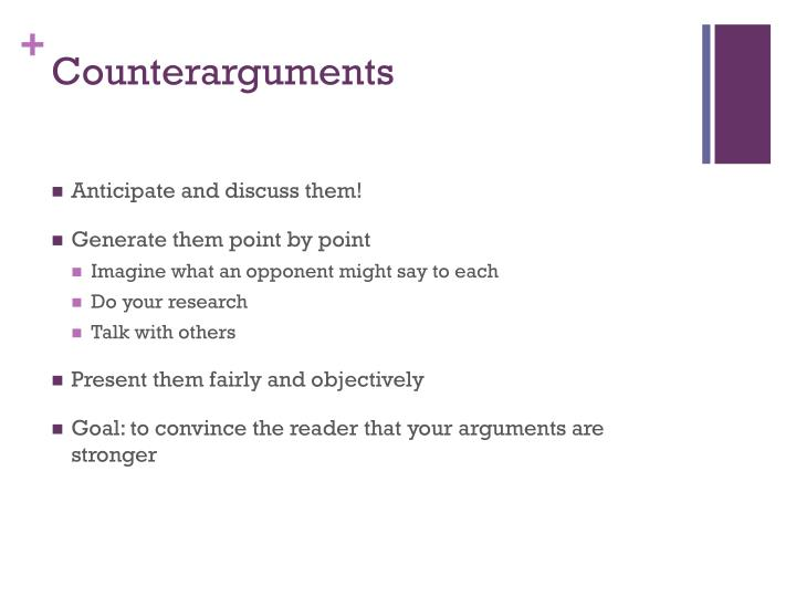 Counterarguments