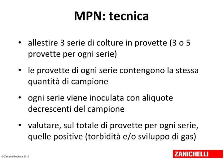 MPN: tecnica