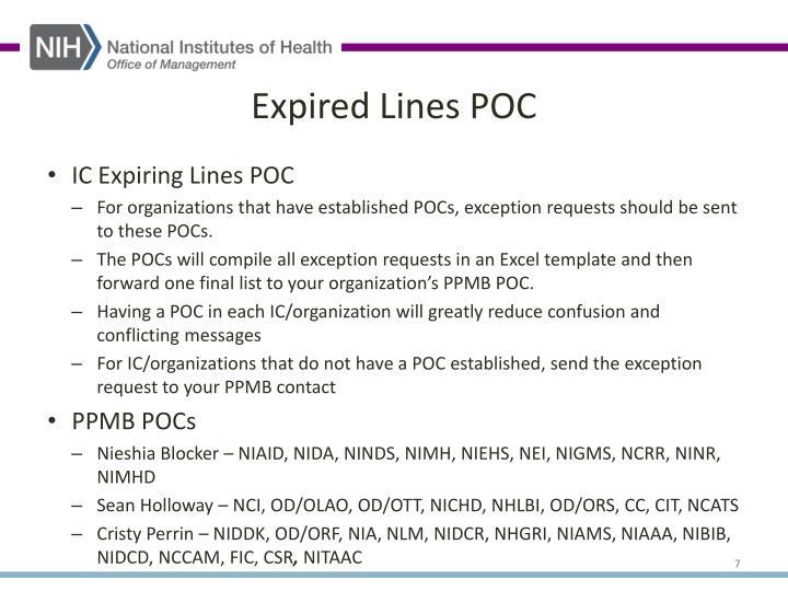 Expired Lines POC