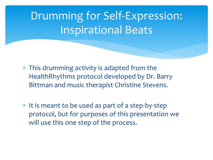 how to use music for self expression Through music and movement,  use a variety of musical styles to inspire movement  when we approach the arts from a place of creative self-expression,.