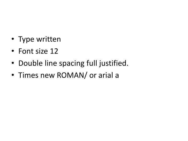 Type written