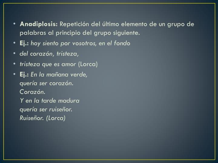 Anadiplosis: