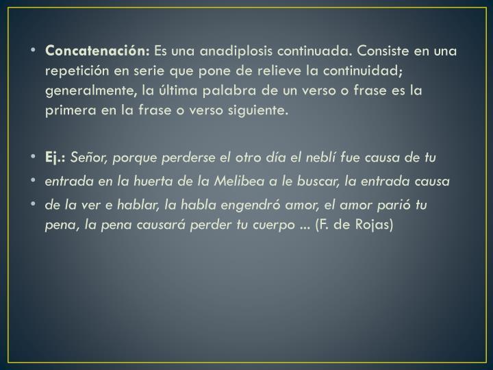 Concatenación: