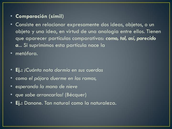 Comparación (símil