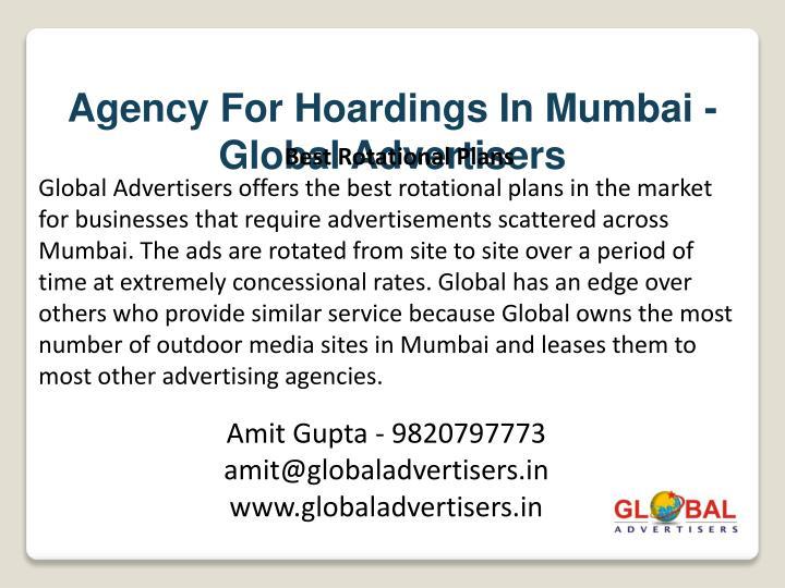 Agency For Hoardings In Mumbai - Global Advertisers