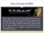 how to lose 10 kilos