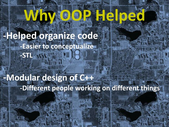 Why OOP Helped