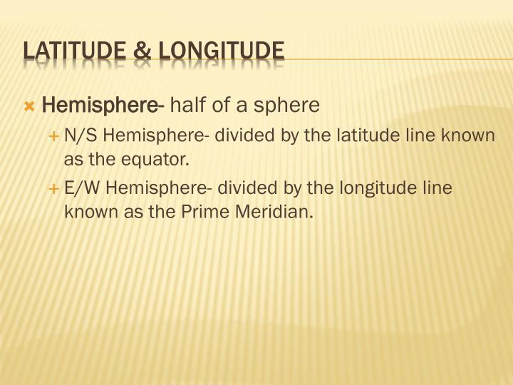 Hemisphere-