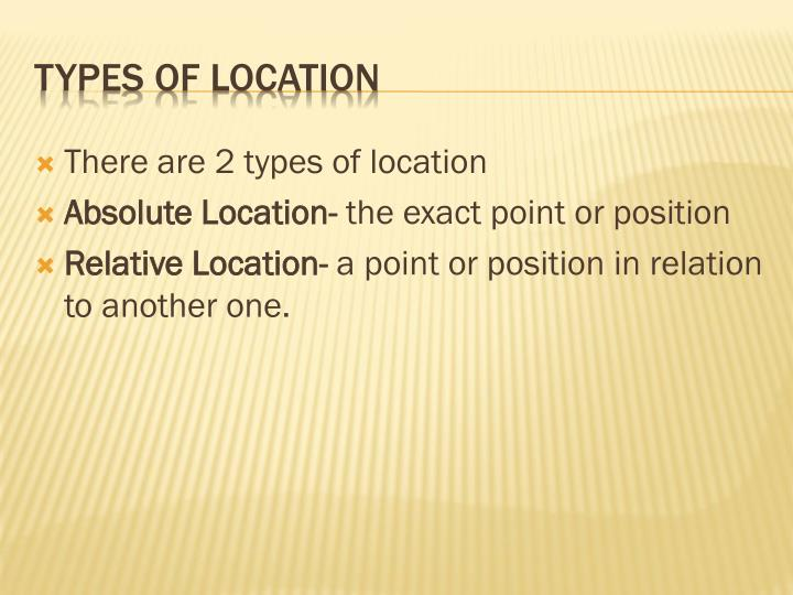 Types of location