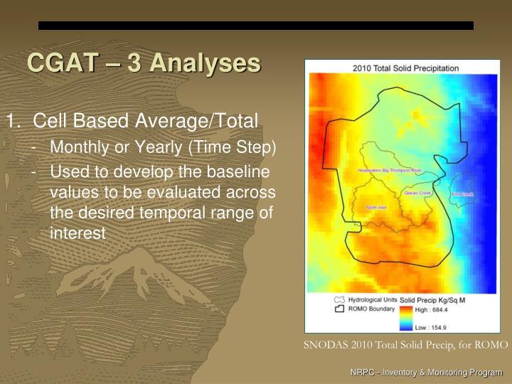 CGAT – 3 Analyses