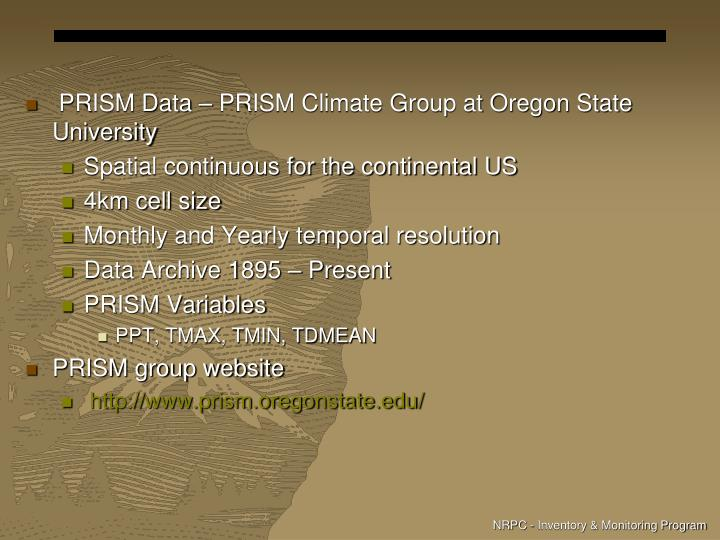 PRISM Data – PRISM Climate Group at Oregon State University