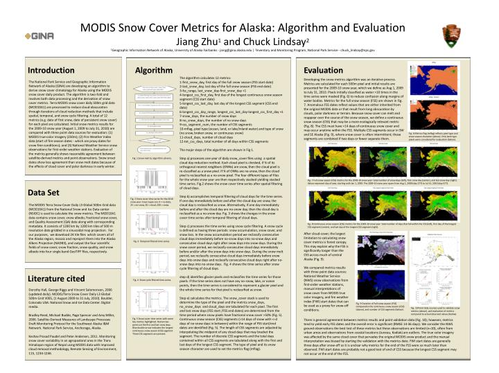 MODIS Snow Cover Metrics for Alaska: Algorithm and Evaluation