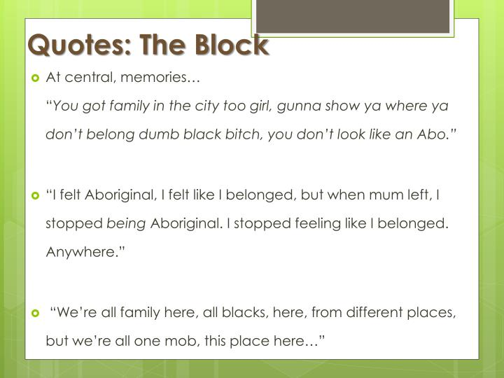 Quotes: The Block