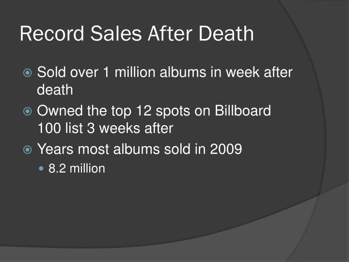 Record Sales After Death