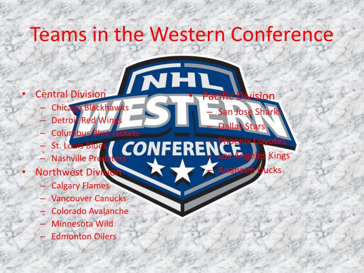 Teams in the Western Conference