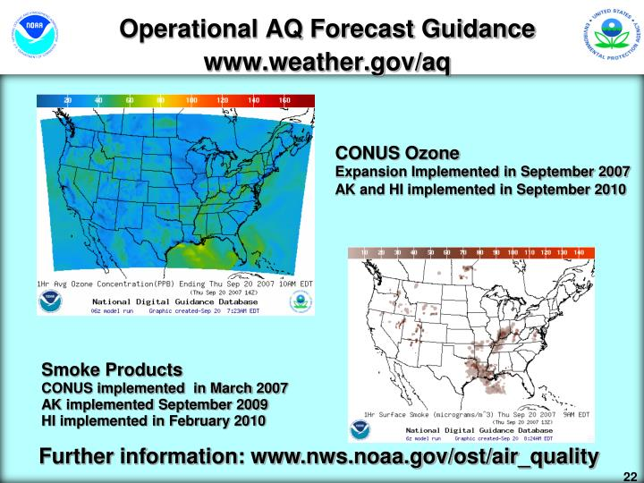 Operational AQ Forecast Guidance