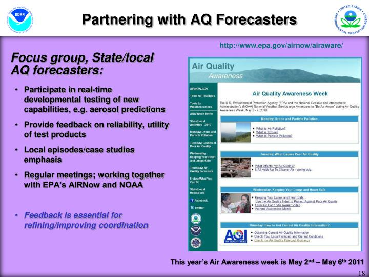 Partnering with AQ Forecasters