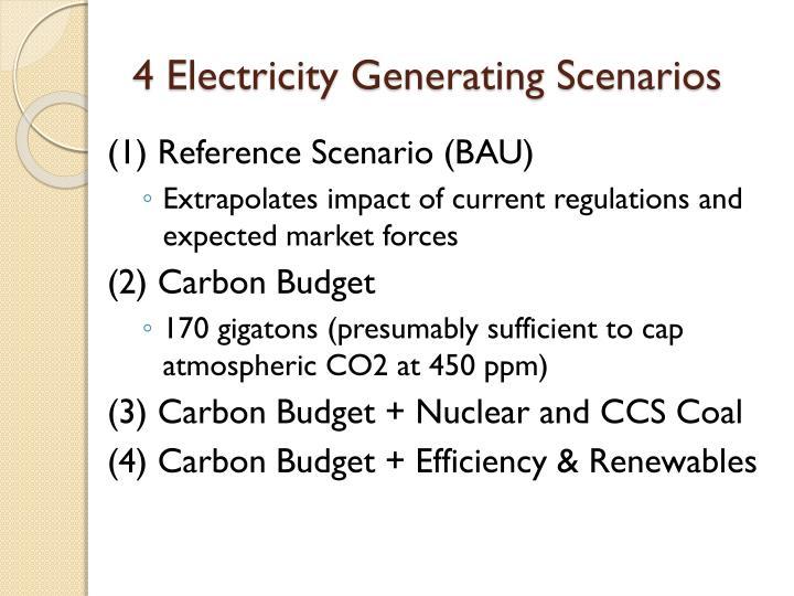 4 Electricity Generating Scenarios