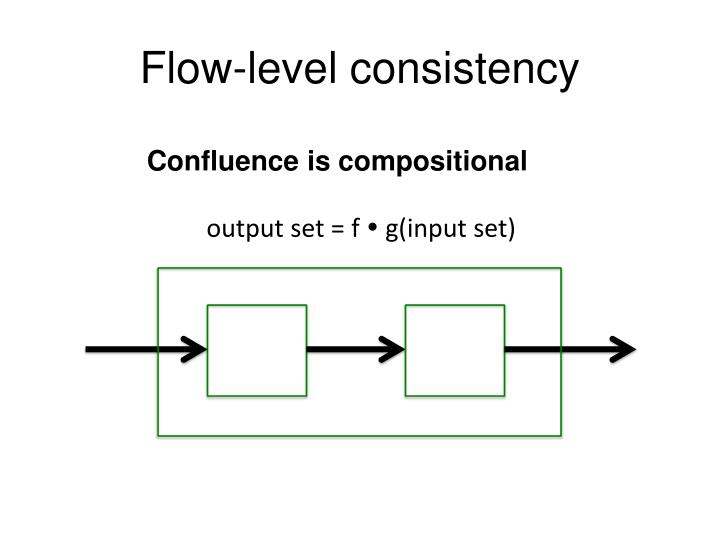 Flow-level consistency