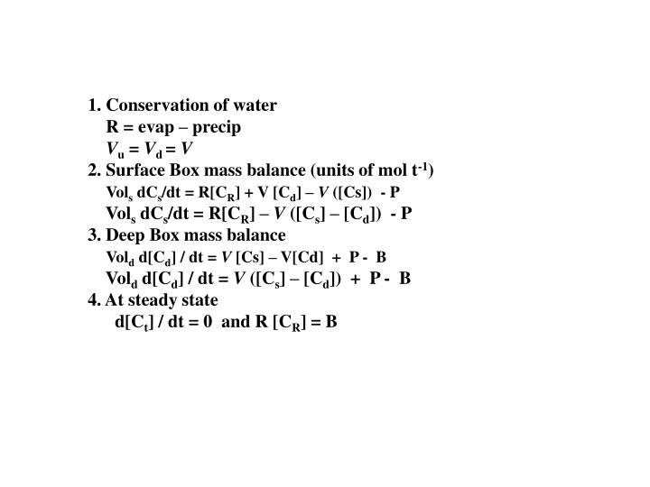1. Conservation of water