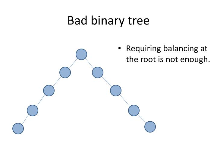 Bad binary tree