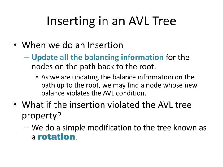 Inserting in an AVL Tree