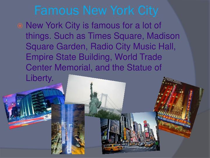 Famous New York City