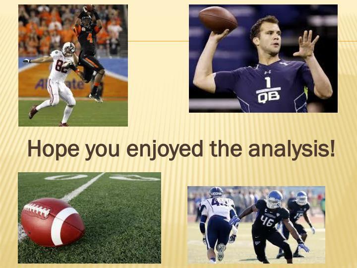 Hope you enjoyed the analysis!