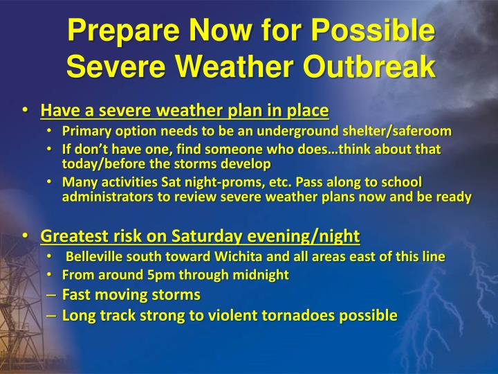 Prepare Now for Possible Severe Weather Outbreak