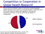 competition or cooperation in global health research