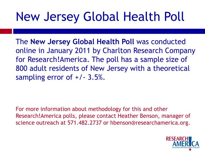 New Jersey Global Health Poll