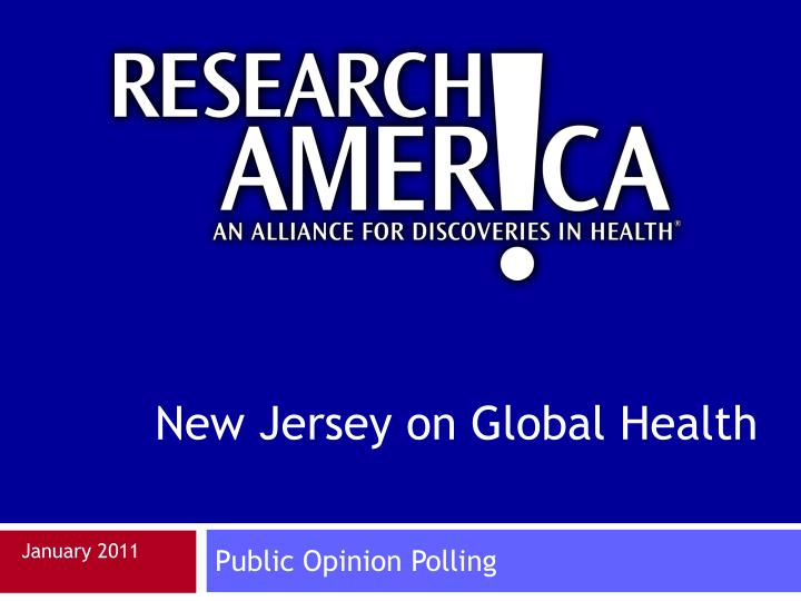 New Jersey on Global Health