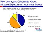 new jerseyans concerned about disease exposure for overseas troops
