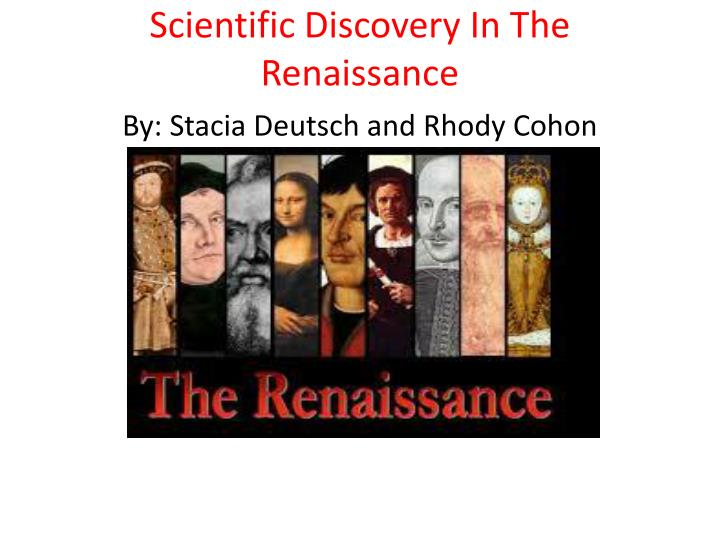 renaissance and discovery