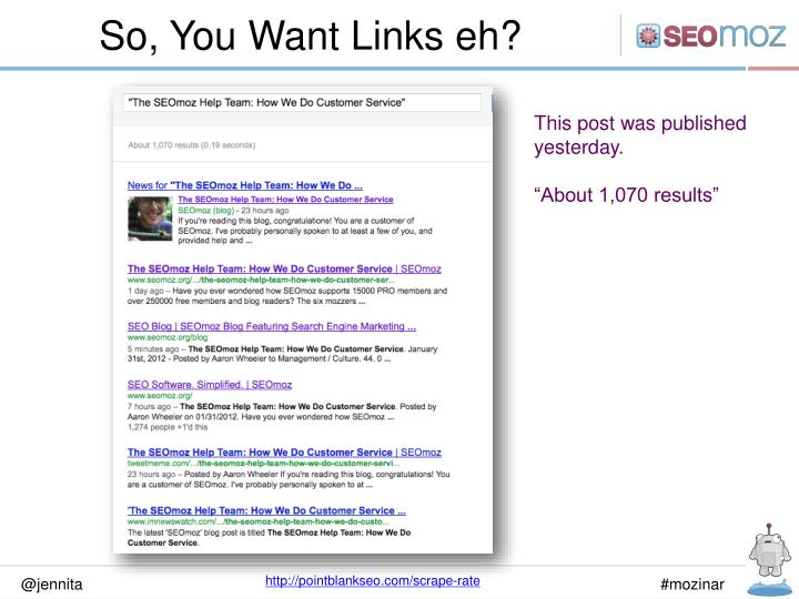 So, You Want Links eh?