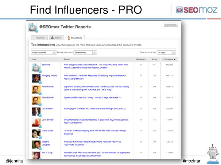 Find Influencers - PRO