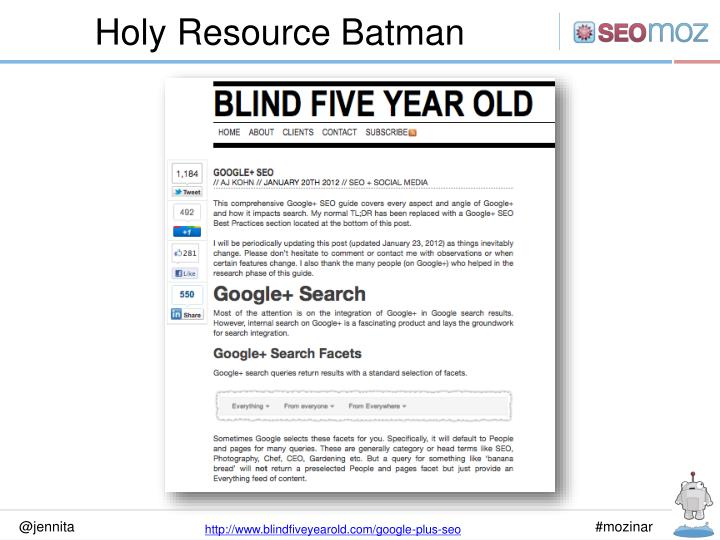 Holy Resource Batman