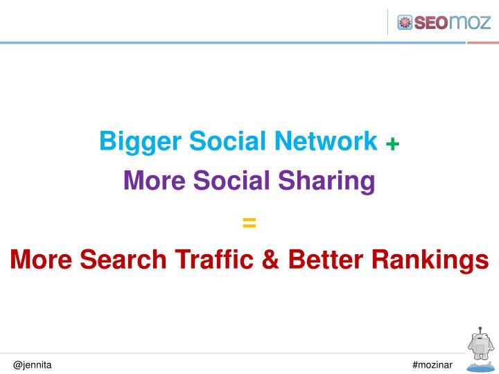 Bigger Social Network