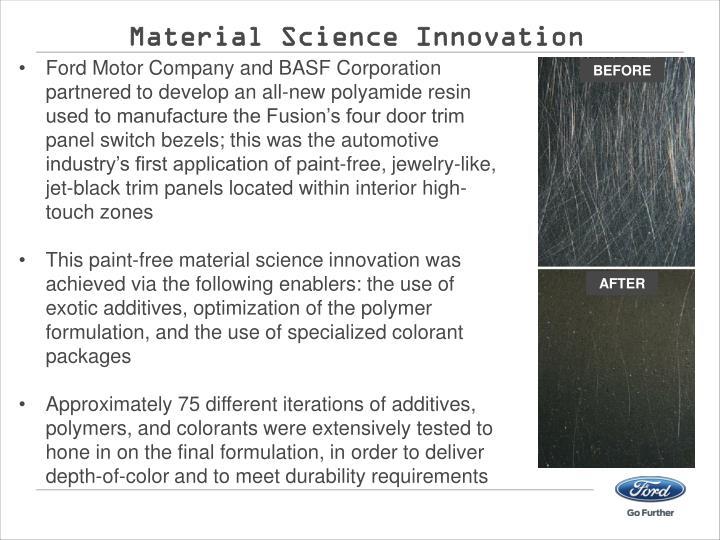 Material Science Innovation