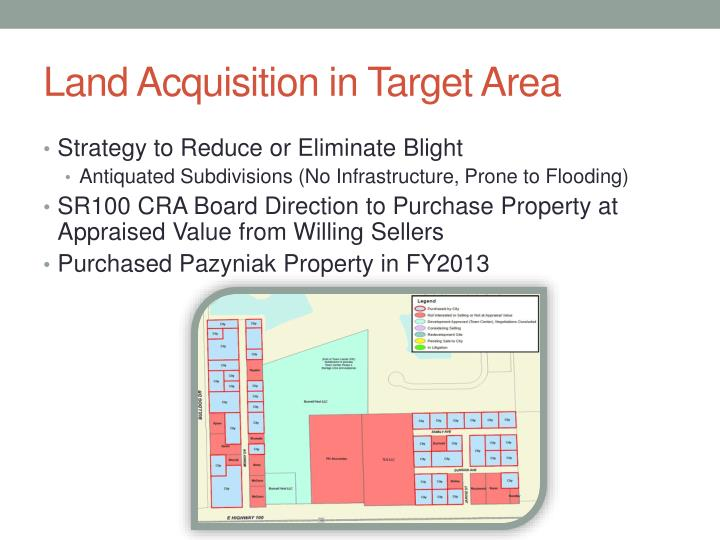 Land Acquisition in Target Area