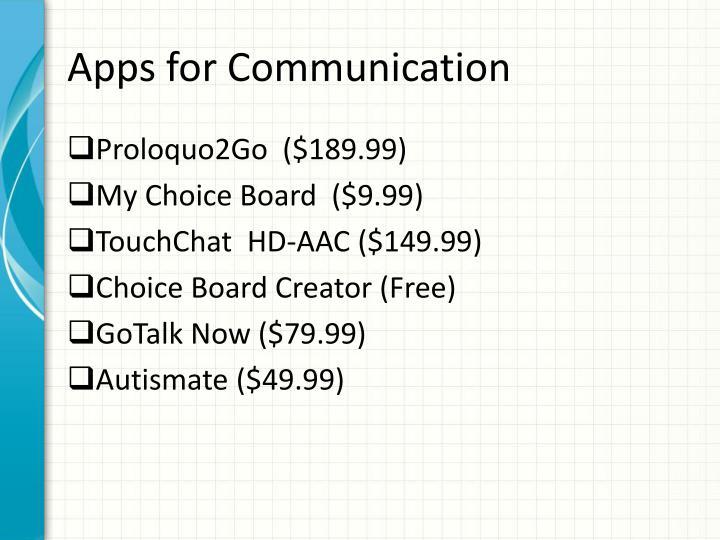 Apps for Communication